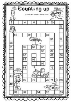 Count to 100 in ones and tens (Skip counting. by Olivia Walker Preschool Number Worksheets, Kindergarten Addition Worksheets, First Grade Math Worksheets, Kindergarten Math Activities, Numbers Preschool, 1st Grade Math, Preschool Math, Teaching Math, Counting To 100