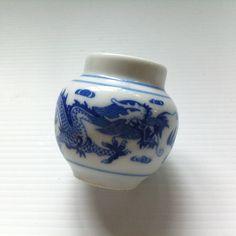 Vintage  Dragon Bird Feeder  White Porcelain  Traditional