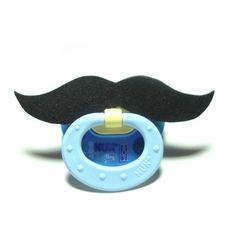 BPA Free Classic Mustache Pacifier in Black or by posiesnpinwheels, $8.75