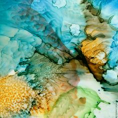 Alcohol Ink art by Gina Startup