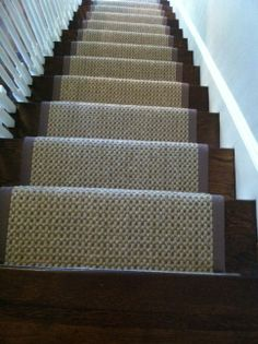 This #sisal Carpet Remnant Was Fabricated And Installed As A Stair Runner  By The Carpet