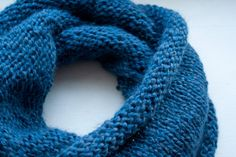 #RoseChiffon - Tricot : Snood aux aiguilles circulaires - #RoseChiffon