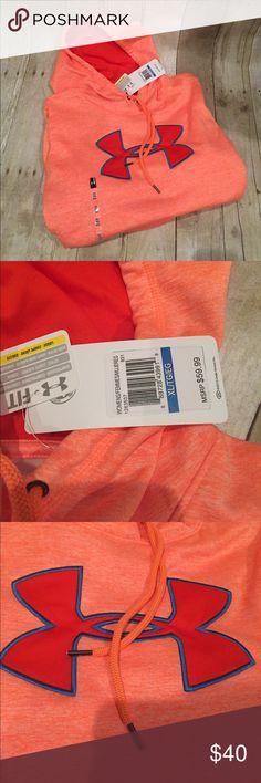 UNDER ARMOUR NWT XL hoodie in orange Just in Under Armour XL NWT hoodie Under Armour Tops Sweatshirts & Hoodies