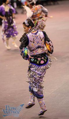 Native American with jingle skirt