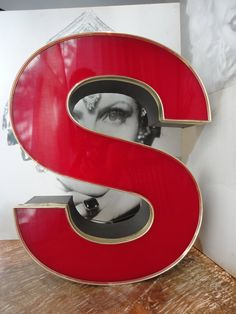 """vintage red letter """"S"""" gold. $90.00, via Etsy."""