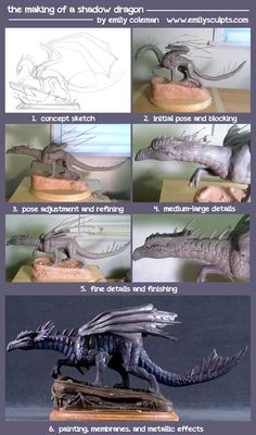 The Making of a Shadow Dragon by emilySculpts.deviantart.com