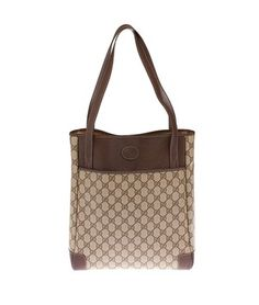 Gucci Gg Canvas & (16285)` Brown And Beige Tote Bag. Get one of the hottest styles of the season! The Gucci Gg Canvas & (16285)` Brown And Beige Tote Bag is a top 10 member favorite on Tradesy. Save on yours before they're sold out!