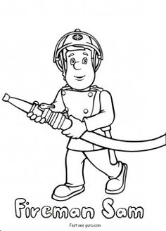 Printable #fireman #sam coloring pages for kids. free online coloring pages for kids #Printable #kids #coloring #book #kids #learning #games #howtodraw #clipart
