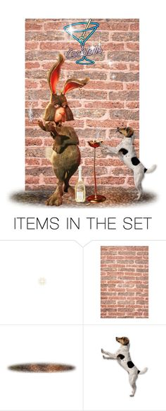 """Hare Of The Dog"" by chileez ❤ liked on Polyvore featuring art"