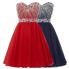 Cute Homecoming Dress,Beading Homecoming Dress,Chiffon Graduation Dress…