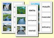 River themed matching cards