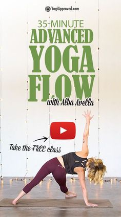 35-Minute Advanced Vinyasa Yoga Flow (Free Class)