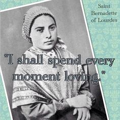 St. Bernadette of Lourdes books, medals, prayer cards, and other gifts.