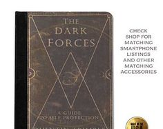 Harry Potter inspired Dark Forces book cover handbook tablet case (ipad 2 3 4, air, mini, Kindle Fire, paperwhite)