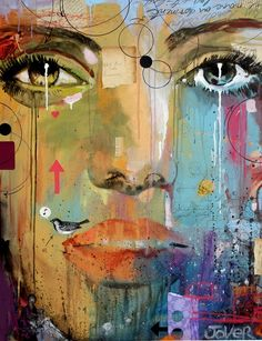 "Saatchi Online Artist: Loui Jover; Paint, 2013, Mixed Media ""voices"""