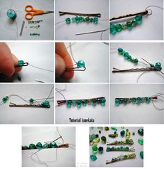Hair Jewelry, Beaded Jewelry, Metal Hair Clips, Barrettes, Hair Decorations, Making Hair Bows, Hair Beads, Diy Hair Accessories, Wire Crafts