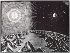 M.C. Escher - The Fourth Day Of Creation