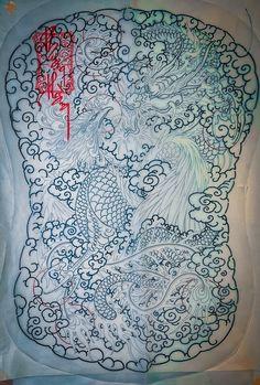 Japan Tattoo, Irezumi Tattoos, Tattoo Life, Stencils, Tapestry, Phoenix, Artwork, Cover, Tatoo