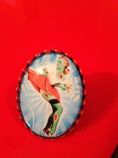 Zombie pin up girl ring by InkedVixenBoutique on Etsy https://www.etsy.com/listing/220238869/zombie-pin-up-girl-ring