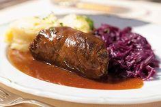 Pikantní hovězí závitky plněné žampiony a slaninou Steak, Steaks, Beef