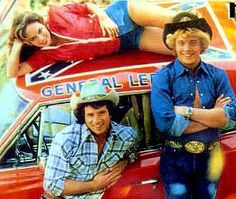 Dukes of Hazard. I sure loved them Duke Boys. And the General Lee. Remember the horn? I had a replica of one as my car horn one year. How goober? Lol...