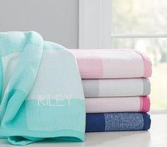 Buffalo Check Baby Blanket, Bright Pink