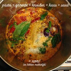 one pot pasta One Pot Pasta, Goulash, Camping Meals, Thai Red Curry, Nom Nom, Vegetarian Recipes, Bbq, Ethnic Recipes, Campingfood