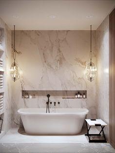Double Sink Bathroom, Bathroom Sink Vanity, Small Bathroom, Master Bathroom, Bathroom Store, Bad Inspiration, Bathroom Design Inspiration, Futuristisches Design, Apartment Projects