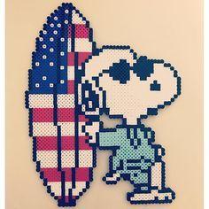 Snoopy perler beads by Yuhana