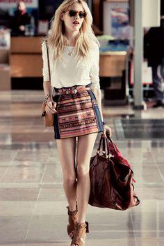 Jupe aztèque #aztec #skirt #print