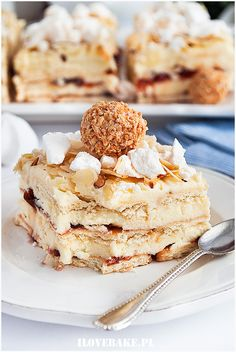 Dessert Cake Recipes, Sweets Cake, Sweet Desserts, Delicious Desserts, Yummy Food, No Bake Cake, Cooking Time, Food Inspiration, Food And Drink