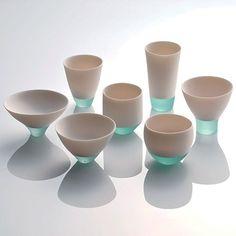 """Misa Tanaka's """"Shizukana Sora"""" (Quiet Sky) took second place for her elegant fusing of porcelain and glass."""