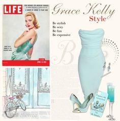 """Grace Kelly Style"" by clarevillebeach on Polyvore"