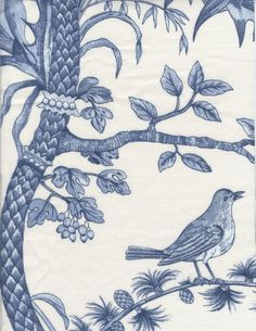 Toile Blue And Wallpapers On Pinterest