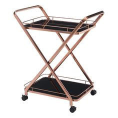 Buy the Zuo Modern 100370 Rose Gold Direct. Shop for the Zuo Modern 100370 Rose Gold Vesuvius Serving Cart - Rose Gold and save. Diy Bar Cart, Gold Bar Cart, Bar Cart Decor, Bar Carts, Rose Gold Interior, Kitchen Island Cart, Kitchen Carts, Kitchen Islands, Basement Bar Designs