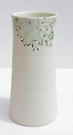 porcelain vase by karin eriksson, via Flickr