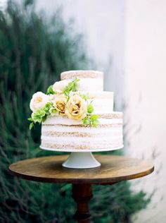 Santa Barbara Garden Wedding Cake by Whisk & Whittle See more here: http://taralynnlawton.com/