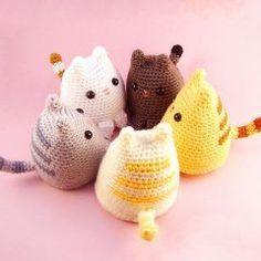 Dumpling Kitty, a free crochet amigurumi pattern on Ravelry. Chat Crochet, Crochet Mignon, Crochet Amigurumi, Love Crochet, Crochet Dolls, Crochet Baby, Crotchet, Kawaii Crochet, Ravelry Crochet