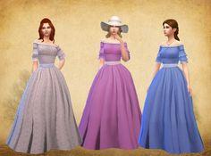 Civil War Fashion dress at My Stuff via Sims 4 Updates