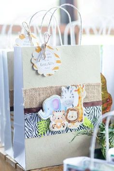 Check out this cool modern safari 1st birthday party! The party favor bags are awesome! See more party ideas and share yours at CatchMyParty.com Safari Party Favors, Safari Birthday Party, Jungle Party, Jungle Safari, Animal Birthday, Party Favor Bags, Birthday Party Favors, 1st Birthday Parties, Boy Birthday