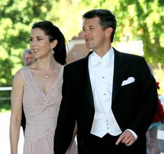 Crown Prince Frederik & Crown Princess Mary at a wedding, 2006