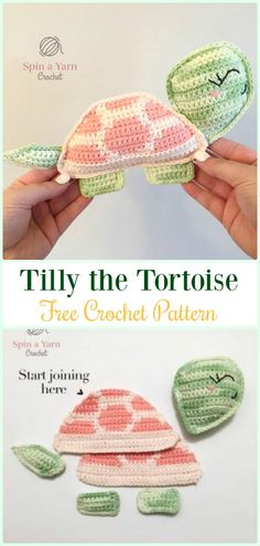 Amigurumi Crochet Tilly the Tortoise Free Pattern - #Crochet; #Turtle; Amigurumi Toy Softies Free Patterns