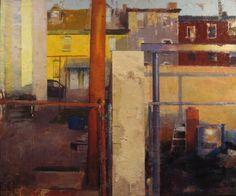 Urban Backyard, by Dale Roberts, Encaustic Painting