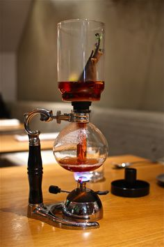 beautiful Japanese siphon coffee maker ... good for more than just making coffee