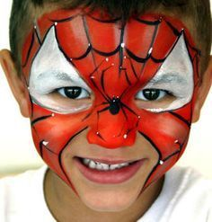 maquillage spiderman facile , Recherche Google Maquillage Spiderman,  Maquillage Super Héros, Maquillage Enfant Facile
