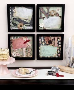"""""""Kneading"""" an idea for displaying your most deliciously cherished family recipes? Whip up sweet kitchen decor using items from our Papercrafting Department!"""