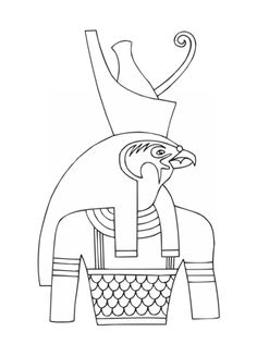 Ancient Egyptian Gods ~ info on gods and how to draw them