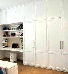 46 Trendy Bedroom Wardrobe Ideas Built Ins Storage Ikea Built In, Built In Desk, Built In Storage, Built Ins, Diy Built In Wardrobes, Diy Fitted Wardrobes, Built In Wardrobe Ideas Sliding Doors, Built In Wardrobe Designs, Ikea Wardrobe