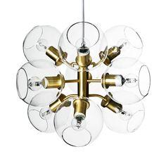 Tage 50 taklampe, messing/klar i gruppen Belysning / Lamper / Taklamper hos ROOM21.no (1027430)
