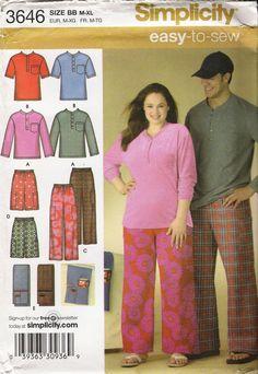 ee6ccf3076 Simplicity 3646 Misses  Men s Teens  Unisex Pants